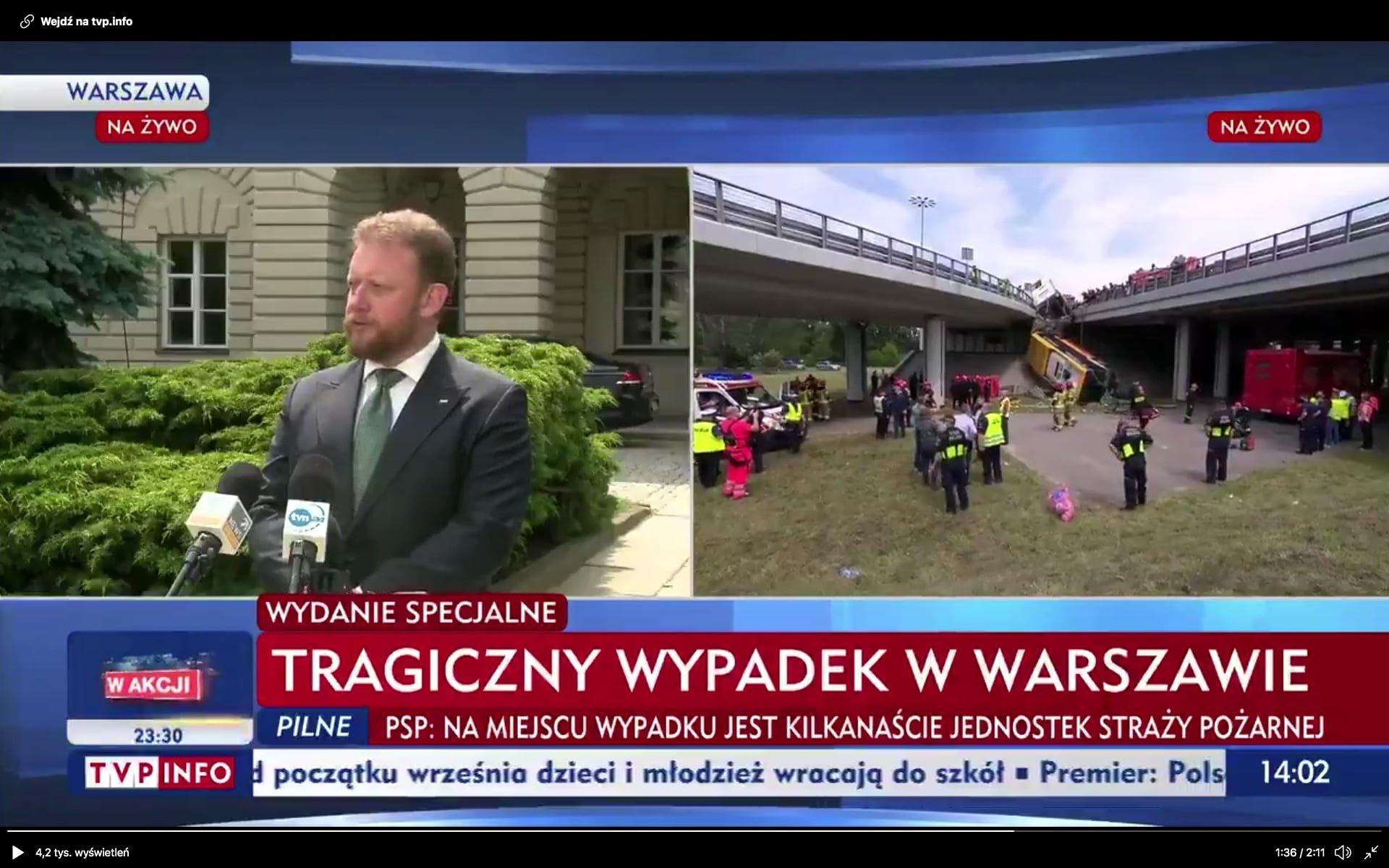 Tragiczny wypadek w Warszawie
