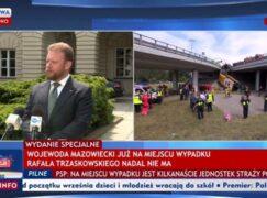 """Pasek TVP Info """"Rafała Trzaskowskiego nadal nie ma"""" to przeróbka."""