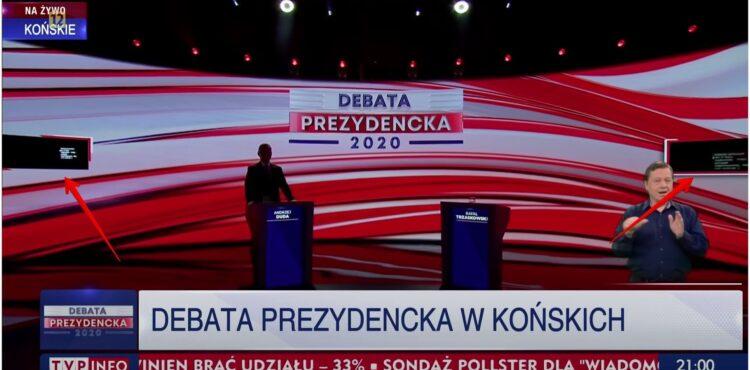 Czy Andrzej Duda wykorzystał prompter podczas debaty w Końskich? Sprawdzamy