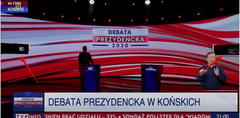 Czy Andrzej Duda wykorzystał prompter podczas debaty w Końskich? Sprawdzamy.