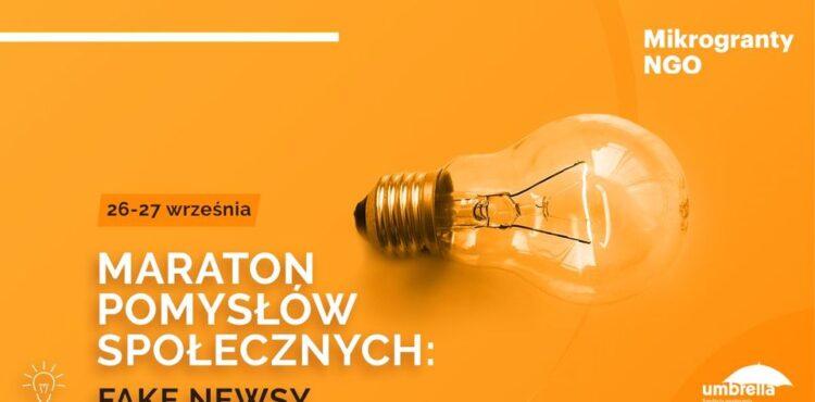 Maraton Pomysłów Społecznych z udziałem ekipy Fakenews.pl