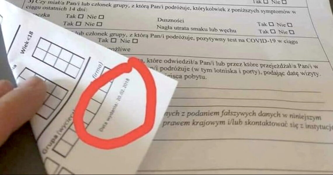 Lotnicze Karty Lokalizacji Pasażera a COVID-19.