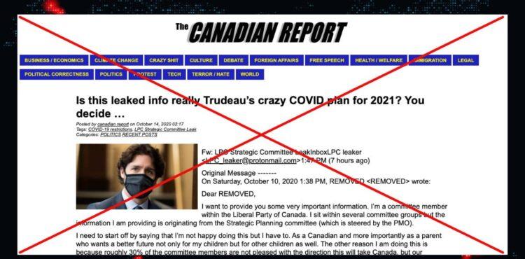 Kanadyjski polityk ujawnia plan COVID-21? Sprawdzamy.