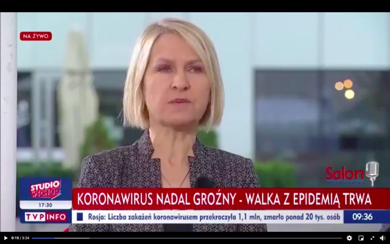 Barbara Stanisławczyk w TVP Info