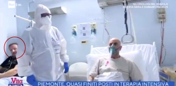 Nie, włoska telewizja nie podstawiła do szpitala aktora