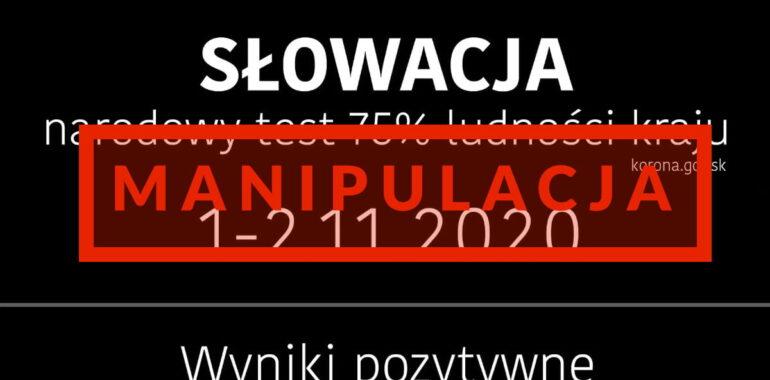 Narodowy test na przeciwciała SARS-CoV-2 na Słowacji. To manipulacja danymi.