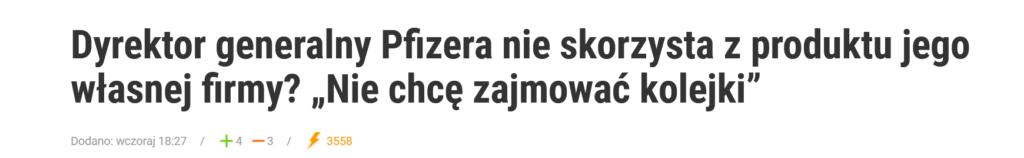 Szef Pfizera