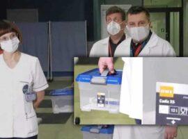 Szczepionka na COVID-19 w pudełkach z OBI. Sprawdzamy