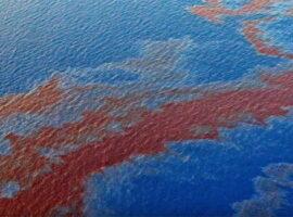 Nie, to zdjęcie nie przedstawia wycieku ropy z terminalu Orlenu
