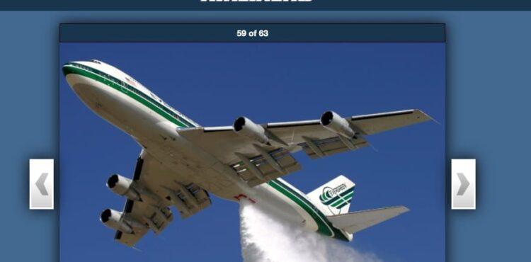 """Nie, to nie """"opryski wirusem"""", to samolot gaśniczy Boeing 747 Supertanker"""