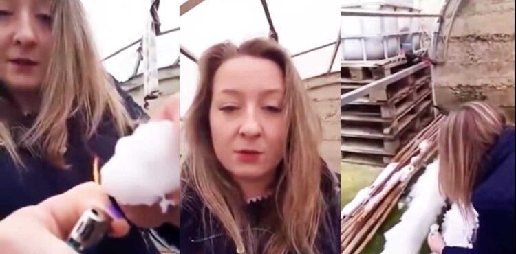Sztuczny plastikowy śnieg w Hiszpanii pali się na czarno? To naturalne zjawisko