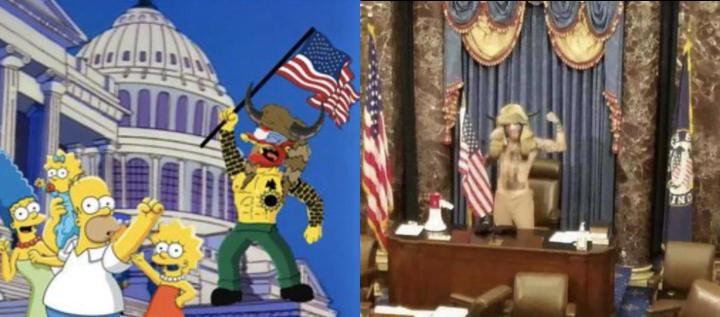 atak na capitol - simpsonowie