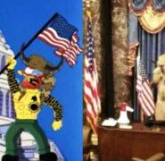 Nie, Simpsonowie nie przewidzieli ataku Człowieka-Bizona na Kapitol