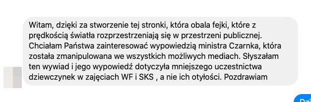 Minister Czarnek (zwłaszcza u dziewcząt) / Pytanie