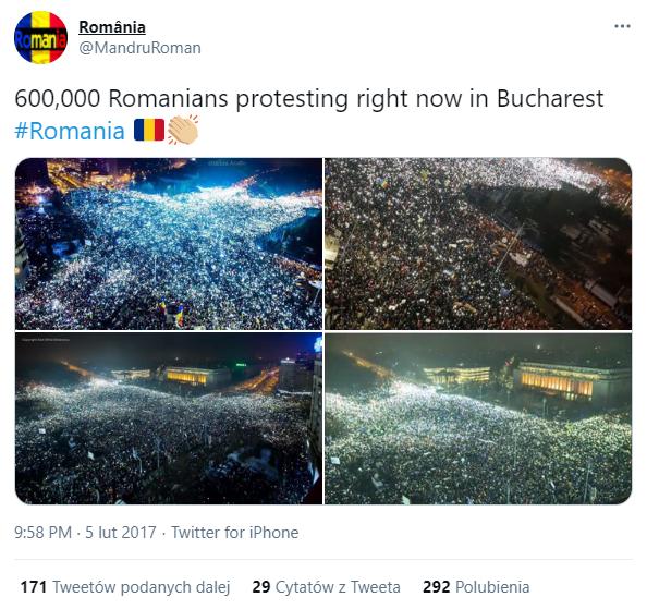 protesty - bukareszt