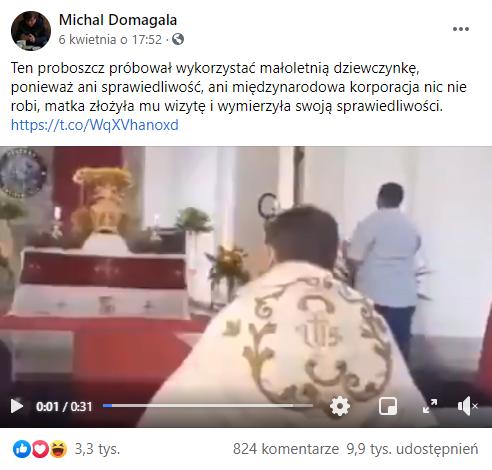 Ksiądz Proboszcz próbował wykorzystać małoletnią dziewczynkę