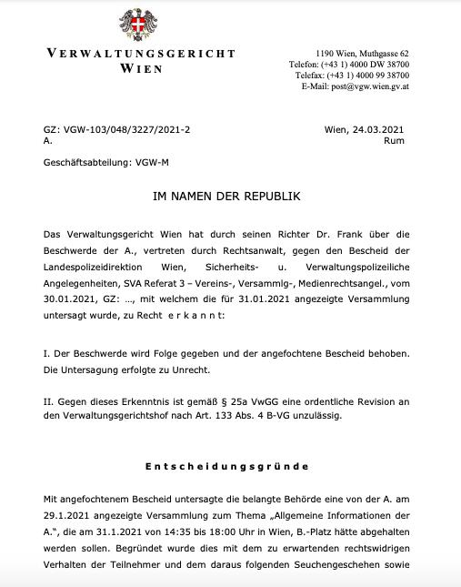 sąd w austrii pcr