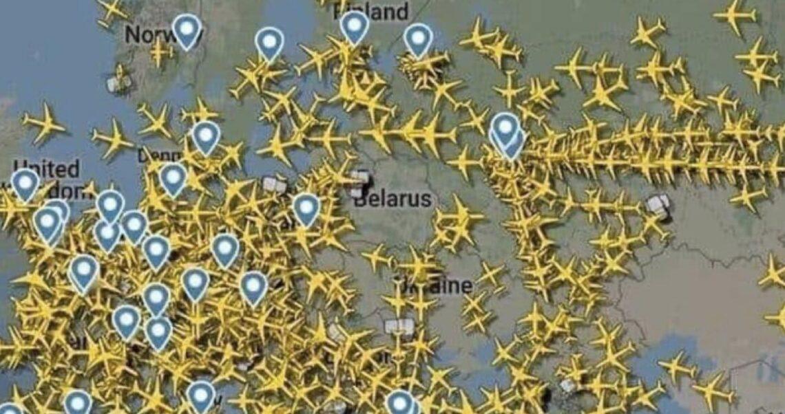 Brak samolotów nad Białorusią? To manipulacja