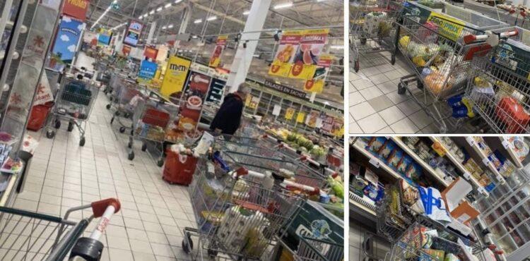 Ludzie w Rosji porzucają wózki sklepowe, gdy są proszeni o założenie maseczek? To fake news