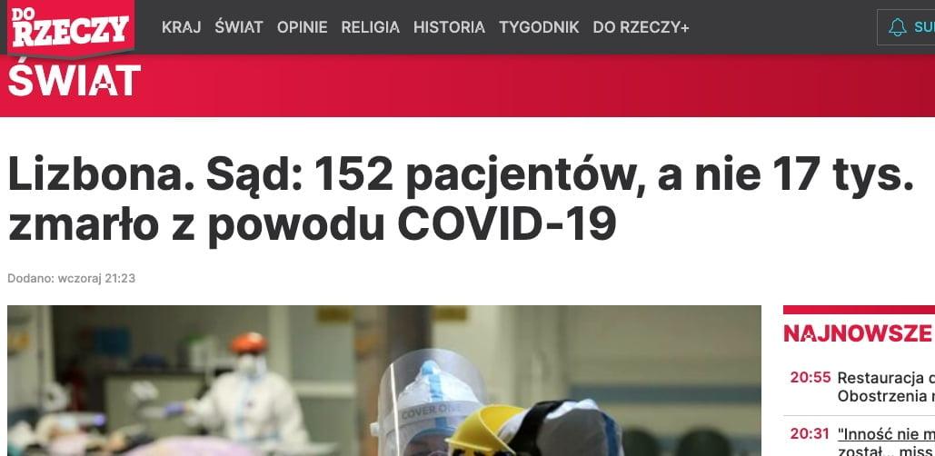 Lizbona 152 pacjentów