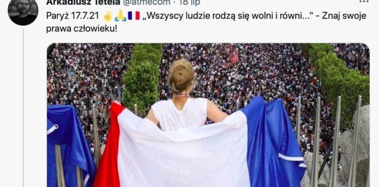 Nie, to zdjęcie nie pochodzi z demonstracji 17 lipca we Francji