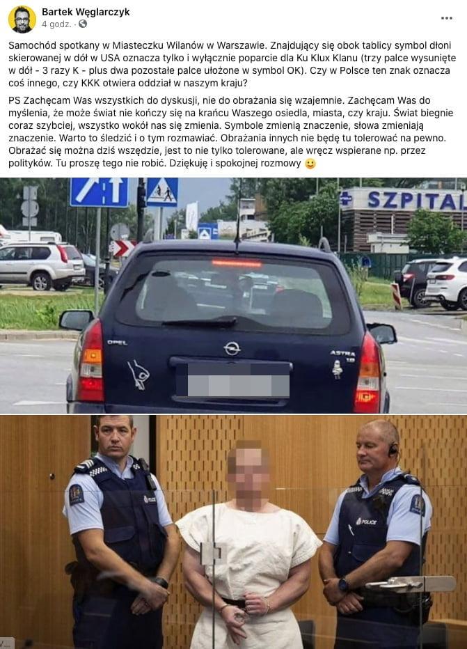 Bartosz Węglarczyk biała supremacja