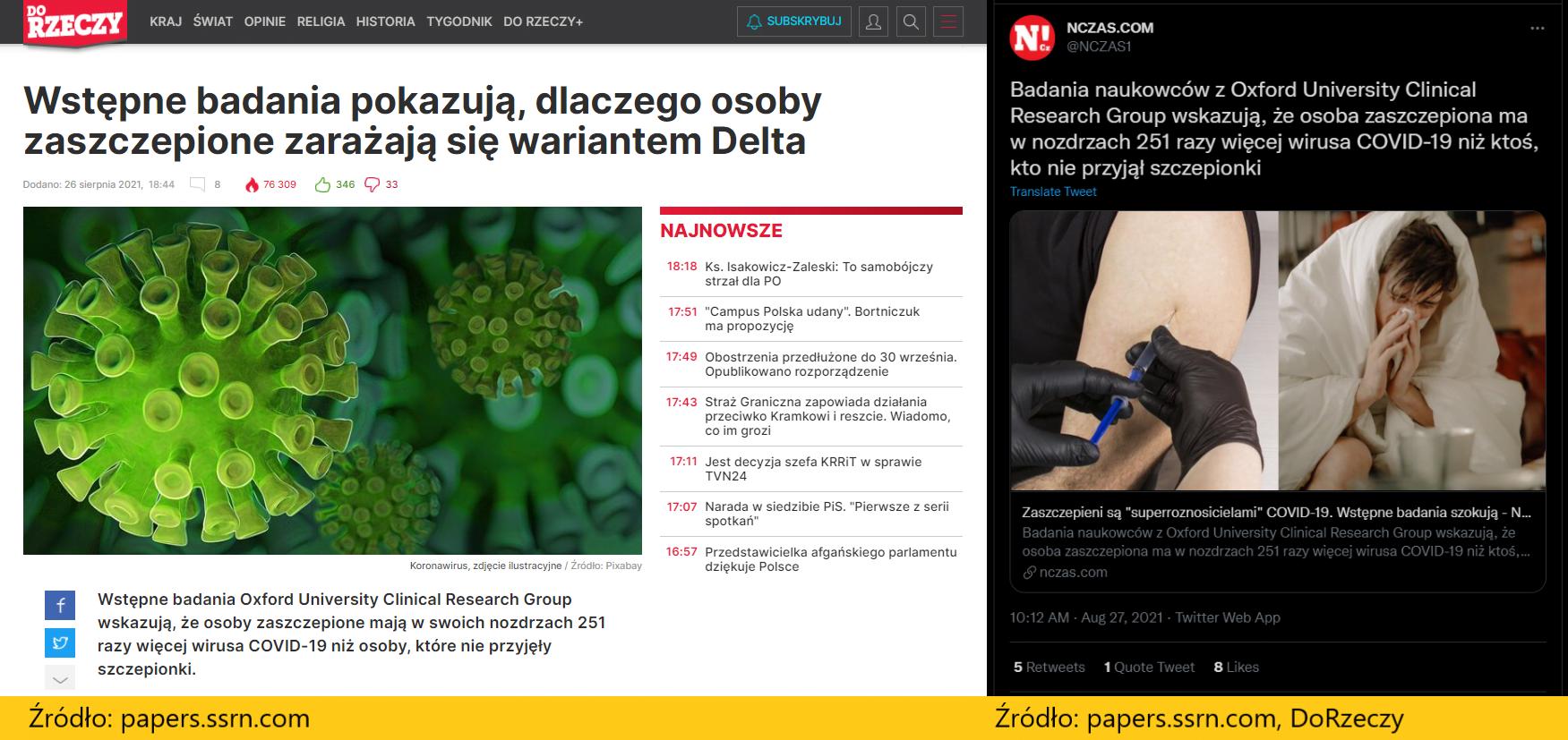 artykuły redakcji DoRzeczy i NCzas