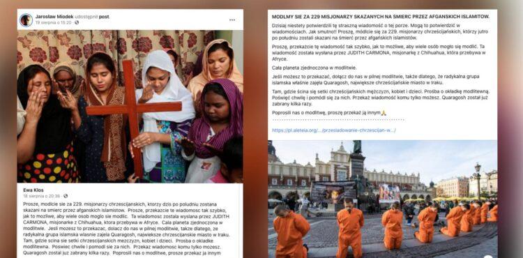 229 misjonarzy skazanych na śmierć w Afganistanie? To fake news