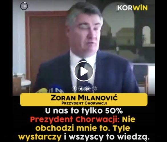 prezydent chorwacji covid-19