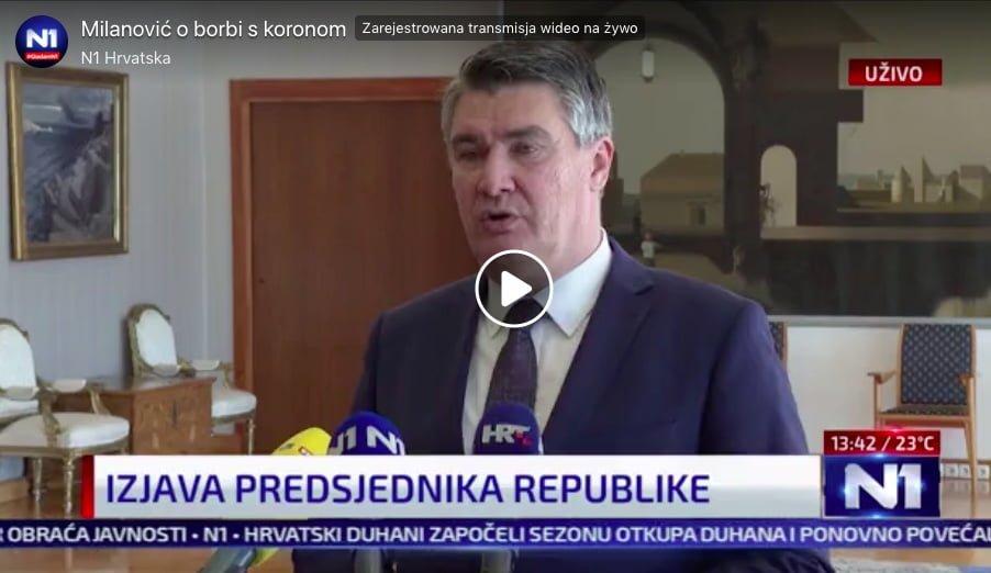 Prezydent Chorwacji szczepienia covid-19