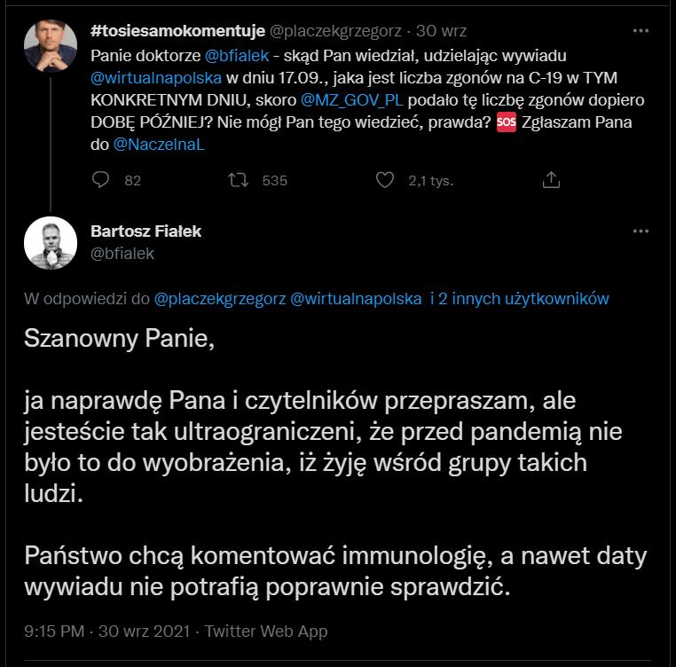 Bartosz Fiałek Twitter