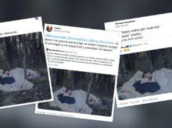 Dziecko śpiące w polskim lesie? Nie, to zdjęcie z Serbii z 2015 roku